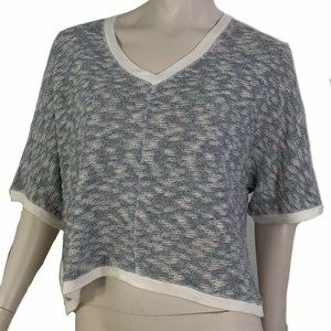 Anthropologie Top Pullover Cropped Short Sleeve M